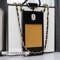 Luxury BRAND Perfume Bottle Leather Lanyard Chain TPU Case Handbag Cover For Samsung Galaxy S4 i9500 Note 2 N7100 Note 3 N9000