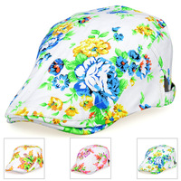 2014 Spring Fashion Leisure Denim Printing Cherry Women's hats Benn Casquette Visors Accessories Sun Caps Adjustable Wholesale