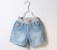 Baby jeans trousers Kid  denim shorts Girl bottoms Short jeans pants Children jeans 2-10T 6 pieces/lot Wholesale Free shipping