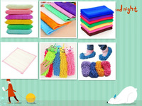 Six kinds of household equipment cleaning cloth dish towel bamboo fiber cloth sponge chenille microfiber towel Magic sponge