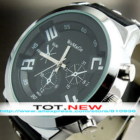 1PCS NEW SIMPLE UNISEX LUXURY ELEGANT MEN MODERN FASHION LEATHER WRIST WATCH FREE SHIPPING