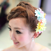 free shipping Chromophous sweet bridal hairpin married flower hair accessory dance clothes hair accessory style
