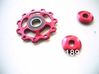 2x Bearing Sealed Bike Derailleur Jockey Pulley Wheel 11T Red