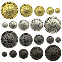 Free shipping Bronze color button gun black overcoat trench buttons15mm