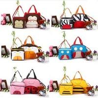 2014 HOT Selling  Baby Diaper Bags Women Messenger Shoulder Bag Maternity Changing Nappy Bag Set Tote Handbag animal pattern