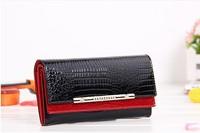 2014 New cowhide wallets crocodile women wallet Genuine Leather designers brand women wallets lady Fashion clutch womens purses
