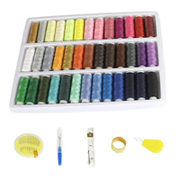 Free shipping ( China Post Air Mail Only ) 39 colors sewing box set \ sewing box set \ fine hand sewing tools \ needlework