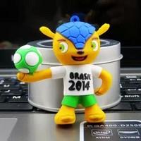 Drop shipping Brazil World Cup 2014 mascot style 8GB usb flash drives Thumb drive/Pendrive/memory stick novelty gift