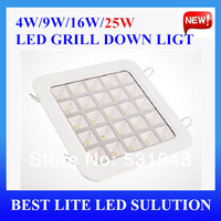 Free Shipping LED grill down light 25w super bright