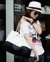 free shipping 2014 newest totes fashion diamond-shaped messenger bags chain women leather handbag high quality big shoulder bags