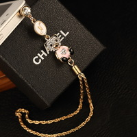 Wholesale kpop name brand designer luxury diamond cute rilakkuma anti dust plug/ks rhinestone earphone dust cap for cell phone