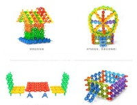 Children's educational toys / snowflake Blocks / plastic fight inserted / baby intelligence assembly / shipping