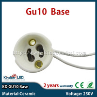 Ceramic gu10 lamp holder stand socket base led lamp bulb plug 250V 2A GU10 accessories 25pcs/lot