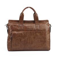 Free shipping Men's bag Genuine leather handbag Wax cowhide laptop bag Messenger bag Briefcase
