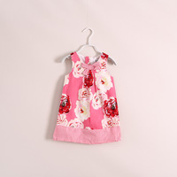 Wholesale girls dress children's clothing  bow 6pcs/lot ye030305