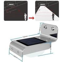 10pcs Solar Powered Lamp Energy saving Outdoor 16 LED Wall Garden Yard Street   Ray and Human body activated  lightLight
