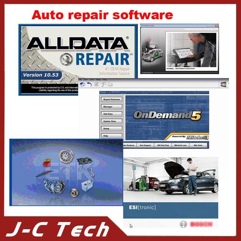 High Quality 1TB hard Disk ALLDATA 10.53 +2013 Mitchell ondemand Auto Repair Software+Vivid+Elsa +ETK Hotsale Free Shipping(China (Mainland))