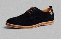 Men's Shoes Suede Lace up Shoe Big Size  European style Large Leather  Shoe Casual Men's Flat shoes WAB2013-0022