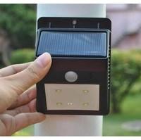 Free Shipping  10pcs/lot New Design Solar 4LED PIR Motion Sensor Light Induction Lamp Waterproof Outdoor