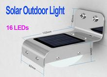 Solar Sensitive Motion Sensor 16 LEDs Outdoor Light Home Security  Dropshipping Wholesale(China (Mainland))