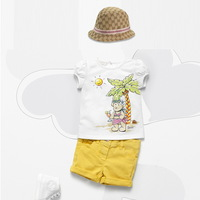 New's brand chirdren gril's  yurn-down collar  short sleeve shirt,fashion children's  white color cotton gril's sets