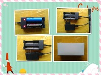 USB 18650 charger usb line+5V2A power + charging case three 18650charger