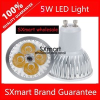 Wholesale 5W GU10 E27 led High Power gu10 led Lamp spotlight led warm white cold white 5pcs/lot Free Shipping