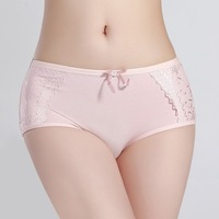 Women's menstrual period cosy Panties Ladies' soft ICE COTTON Briefs Sexy lace Knickers Free shipping