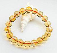 hot sale elegant citrine crystal 12mm beads romantic women bracelet/bracelet&bangle/chain rope bracelet/crystal clear colorful
