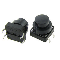 Panel Momentary Tactile Tact Push Button Switch 12 x 12 x 11mm 4 Pin w Cap