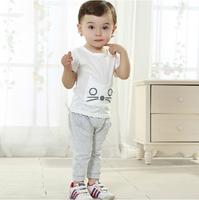 new 2014 Cute summer lace children's clothes kids clothes sets girl sets Children's Wear baby Girl set baby set vest+short