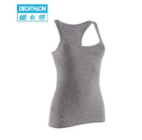 Decathlon Tank Tops Sports Camisole Underwear Ladies Bottoming Shirt Was Thin Halter Vest DOMYOS Blue/Black/White On Sale 325