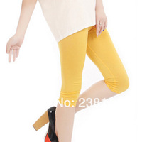 2014 New Fashion  High Waist Stretched  Sporting Casual Capris  Fitness Candy Colors Sexy Stretchy Slim Women  Pants Stockings