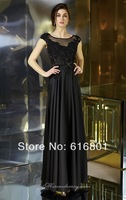 Fashion 2014 New Arrival Satin Applique Beading A-line Formal Mother Of The Bride Dress