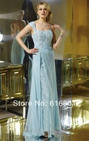 Free Shipping Custom Made Chiffon Lace Applique A-line Mother Of The Bride Dress