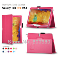 for Samsung Galaxy Tab Pro 10.1 case T520/T525,T520 leather case cover 50pcs/lot 11colors free shipping