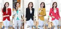 candy color blazer women suit blazer foldable brand plus size jacket Vogue refresh blazers one button shawl cardigan coat