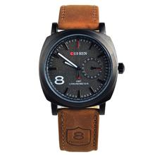 venda quente moedas 3 atm impermeável negócios de quartzo relógios dos homens, homens relógios militares, homens pulseira de couro relógios desportivos(China (Mainland))