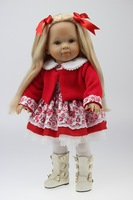 "18"" Baby doll  Reborn silicone vinyl doll  the soft toys handmade doll red clothes dolls"
