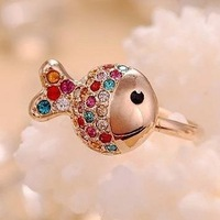 Mixed order with free shipping for $10 2014 new Set auger small fish ring