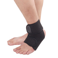 Black Adjustable Ankle Support Brace Double Straps Foot Wrap Protect Basketball [TY24]