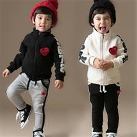 free shippin 2014 new spring male female child set harem pants sweatshirt
