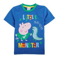 FREE SHIPPING C4495# 18m/6y 5pieces /lot 2014 new summer fashion nova kids brand baby boys tunic top peppa pig short t-shirt