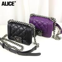 Vintage mini chain bag leboy small plaid bag fashion small cross-body bag one shoulder women's handbag