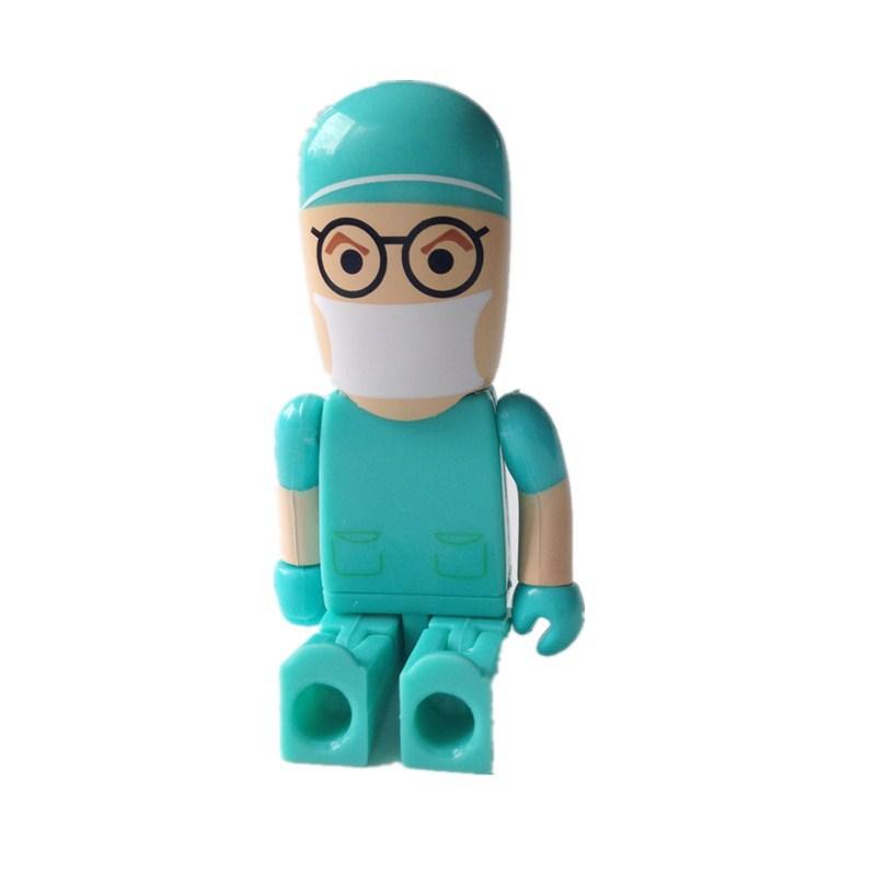 U disk mini pen drive Doctor Teacher gift pen drive 8gb 16gb 32gb 64gb 128gb 256gb nurse cartoon usb flash drive pendrive(China (Mainland))