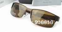 Sunglasses with original box New 2014 Mercedes - Benz polarized sunglasses 0610 Elegant Design legs of male magnesium alloys
