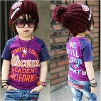 2014 summer animal boys clothing girls clothing baby T-shirt sleeveless vest