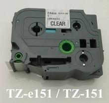 1'x23′ black on white tape 24mmx8m TZ151 TZ-151 TZe151 Compatible brother P-touch TZ Tze label tape ribbon cassette