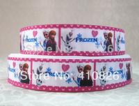 WM ribbon 7/8inch 22mm 1435004 Cartoon Frozen Printed grosgrain ribbon 50yds/roll free shipping