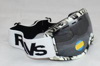 RAVS Free Shipping Double Lens Polarized Anti Fog Windproof Ski Goggles UV400 Protection Snowing Glasses Ventilation holes Men